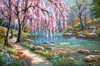 Картины раскраски по номерам на холсте - Волшебный сад