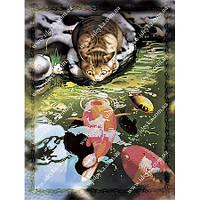 Вышивка бисером схема Кот и карпы Кои