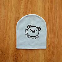 Шапочки  Bape детские для мальчика и девочки  Мишка голубой