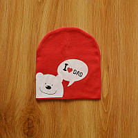 Шапочки  Bape детские для мальчика и девочки  красный мишка папа