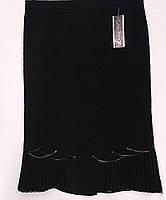 Длинная юбка большого размера черного цвета