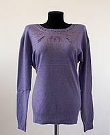 Женская нарядная кофта мягкий стрейч, сиреневого цвета размер 52-54