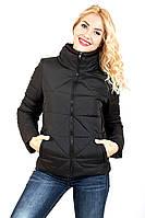 """Куртка женская размер плюс """"Ромб""""(черный)"""