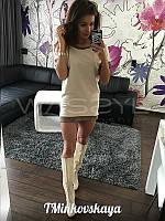 Модное демисезонное платье