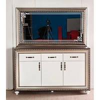 Комод с зеркалом  Элизабет (White, Zebrawood)