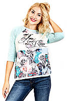 Футболка женская Березка Room Rose, футболки оптом, женская футболка от производителя, дропшиппинг  поставщик