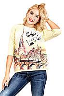 Футболка женская Березка Paris, футболки оптом, женская футболка с рукавом, дропшиппинг  поставщик