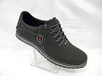 Кожаные мужские туфли Ecco model 1 comfort черные