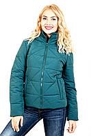"""Стильная куртка размер плюс """"Ромб""""(зеленый)"""