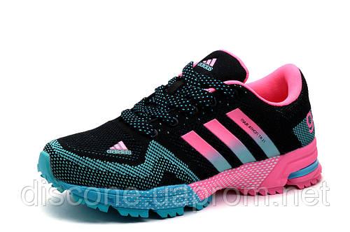 Кроссовки Adidas Marathon TR 21, женские/подросток, черные с розовым, р.  40 41