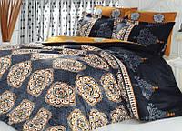Двуспальное евро постельное белье из ранфорса Majoli Bahar teksil Alonzo v2