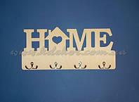 """Слово Ключница """"HOME с домиком""""  (фанера 40см.) заготовка для декупажа и декора"""