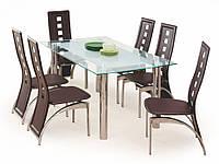Кухонный прямоугольный стол Halmar Bond со стеклянной столешницей