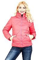 """Яркая женская куртка """"Ромб""""(розовый), фото 1"""