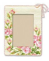 """Набор для вышивания крестом «Рамка для фотографии """"Розочки""""» (770), Риолис"""