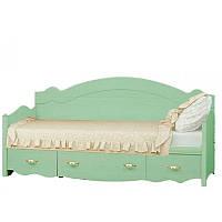 Кровать 1-сп Ш Селина ольха зеленая (Світ Меблів TM)