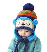 Теплая зимняя шапка мальчику