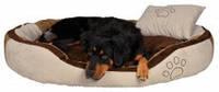 """Мягкое место + подушка """"Бонзо"""" 100х70см для собак, коричневый/бежевый"""