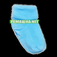 Детскае тонкие носки р. 68-74 для новорожденного 95% хлопок 5% эластен ТМ Ромашка 3196 Бирюзовый
