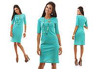 Осенне-весеннее платье с коротким рукавом