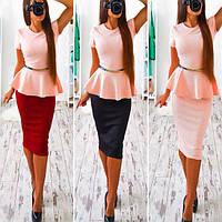 Костюм кофта и юбка (трикотаж)