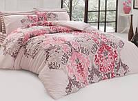 Двуспальное евро постельное белье из ранфорса Majoli Bahar teksil Julie v2