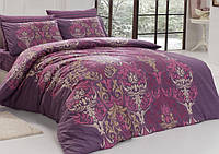 Двуспальное евро постельное белье из ранфорса Majoli Bahar teksil Julie v5
