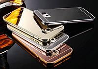 Чехол бампер для Samsung Galaxy S6 Edge зеркальный