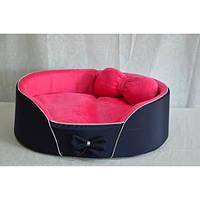 Лежак для собак и кошек VIP плюшевый