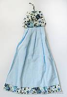 Полотенце махровое Платьице в цветочек Zastelli 50069 для кухни 34х50 см голубое