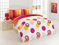 Комплект постельного белья Kristal (Турция) Ekol оранжевый, 200х220