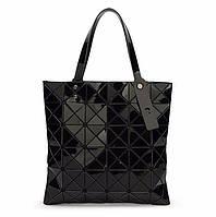 Сумка-шоппер женская  Velina Fabbiano 57812 из лаковых кусочков черная лазерная