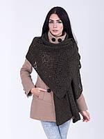 Оригинальная шаль ажурной вязки, фото 1