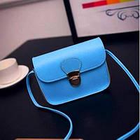 Маленькая женская сумка Мини голубая