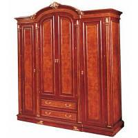Шкаф 4-х дверный Carpenter 216 темный орех