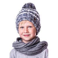 Детская шапочка на мальчика в полоску