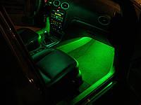 Подсветка салона автомобиля—зеленая!