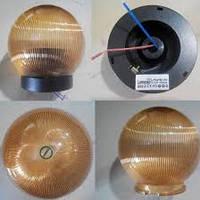 Шар диаметр 150 золотой призматический Lemanso PL2102 макс. 25W  + база