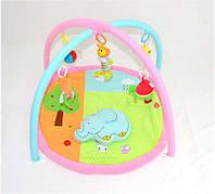 Детский коврик для малышей с игрушками Слоник