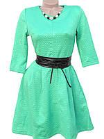 Нежное осеннее платье с ожерельем (в расцветках)