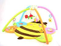 Развивающий детский коврик для новорожденного Пчелка