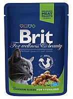 100275 Brit Premium Курица для кастрированных котов и стерилизованных кошек, 100 гр