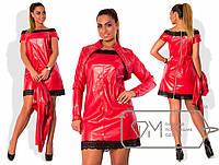 Платье с болеро (экокожа)