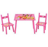 Акция. Деревянный столик М 1508 и два стульчика Феи Winx