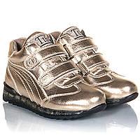 Демисезонные золотистые ботинки для девочки Tutubi 26,28,29