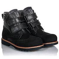 Кожаные черные ботинки для девочки 31,32,33,34,35,36 натуральная кожа супинатор Tutubi