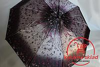 Женские зонт от дождя полуавтомат Сатин Бабочки