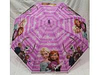 Детский зонт трость для девочки Холодное сердце