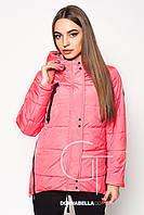 Женская осенняя куртка - парка 19950 розовая 44-58 размеры