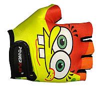 Детские перчатки для велосипеда Power Play желтый